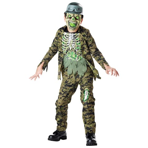 Nuclear Soldier Zombie Child Costume
