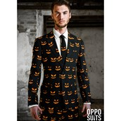 OppoSuit Black-O Jack-O Men's Suit and Tie Set