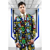 OppoSuit Strong Force Men's Suit and Tie Set