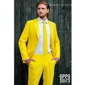 OppoSuit Yellow Fellow Men's Suit and Tie Set