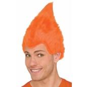 Orange Adult Fuzzy Wig