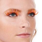 Orange and Gold Eyelashes