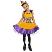 Orange and Purple Witch Toddler Costume