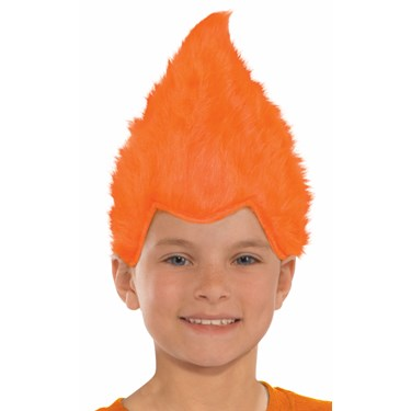 Orange Child Fuzzy Wig