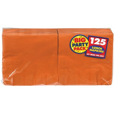 Orange Peel Big Party Pack - Lunch Napkins (125 count)