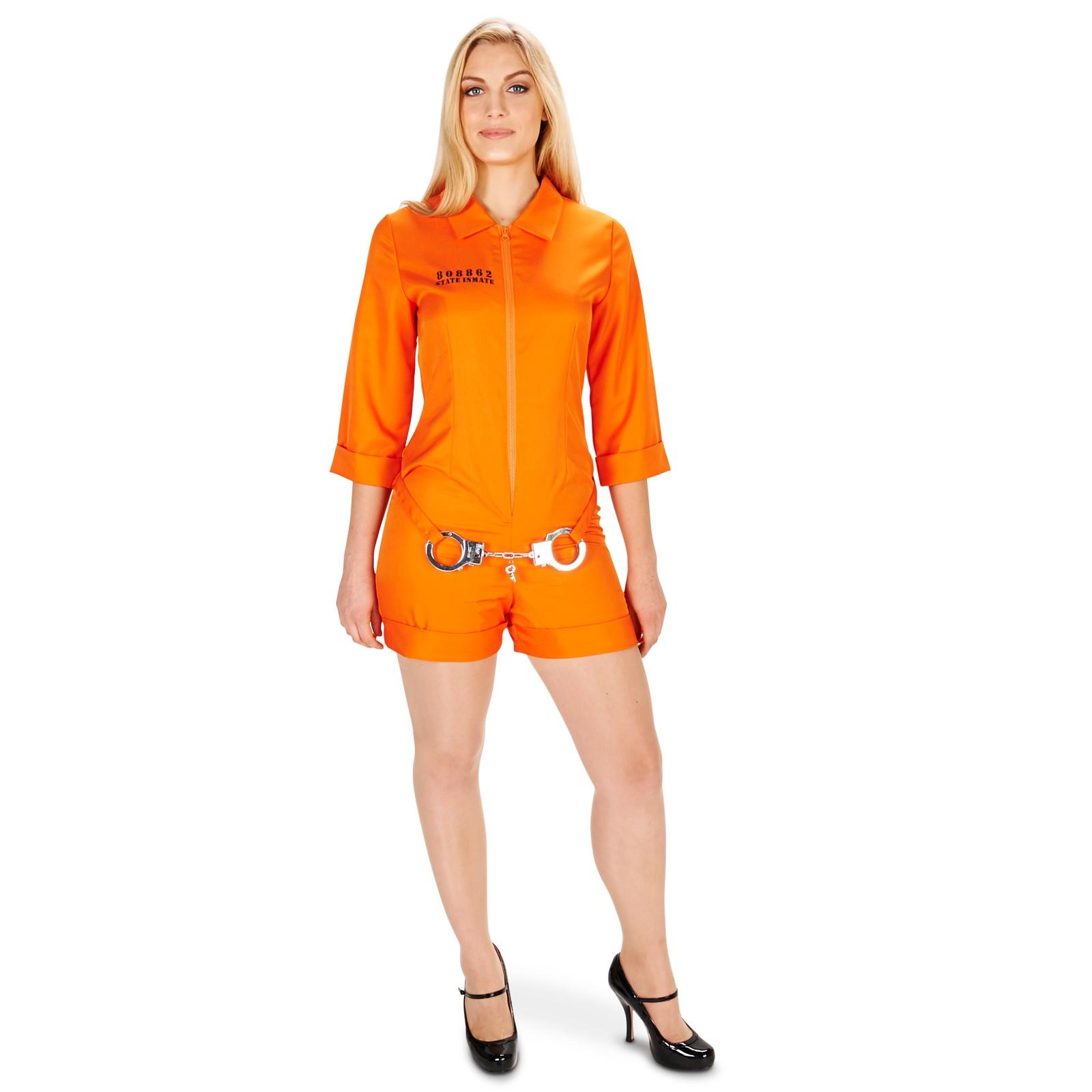 Orange Prisoner Jumpsuit Adult Costume | BuyCostumes.com