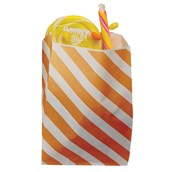 Orange Striped Favor Bags