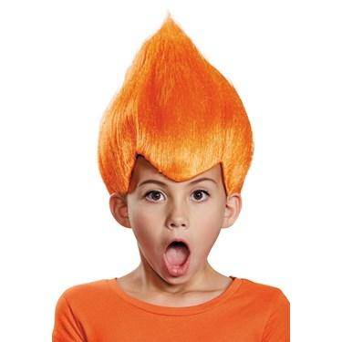 Orange Troll Child Wig