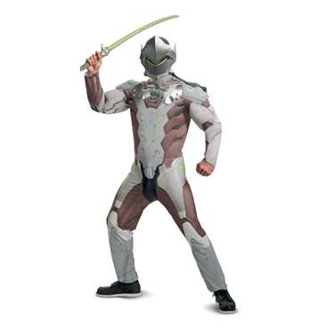Overwatch  Genji Men's Teen Muscle Costume