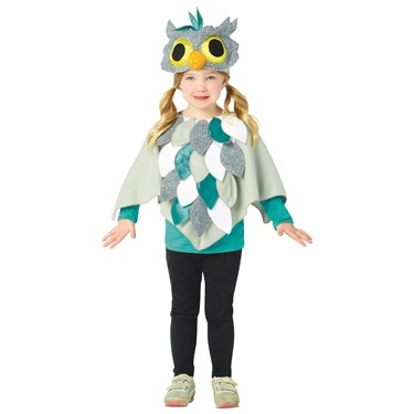 Owl Poncho Toddler Costume