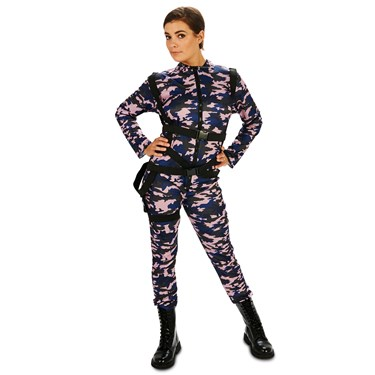 Paratrooper Female Jumpsuit Adult Plus Costume