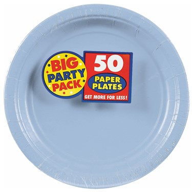 Pastel Blue Big Party Pack - Dinner Plates (50 count)