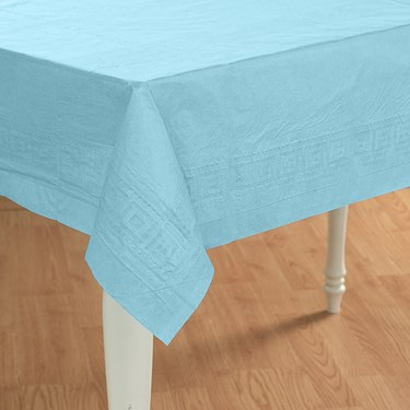 Pastel Blue (Light Blue) Paper Tablecover