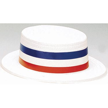 Patriotic Plastic Skimmer Hat