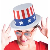 Patriotic Plastic Top Hat