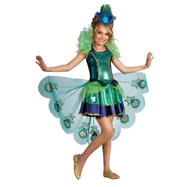 Peacock Girl Child Costume