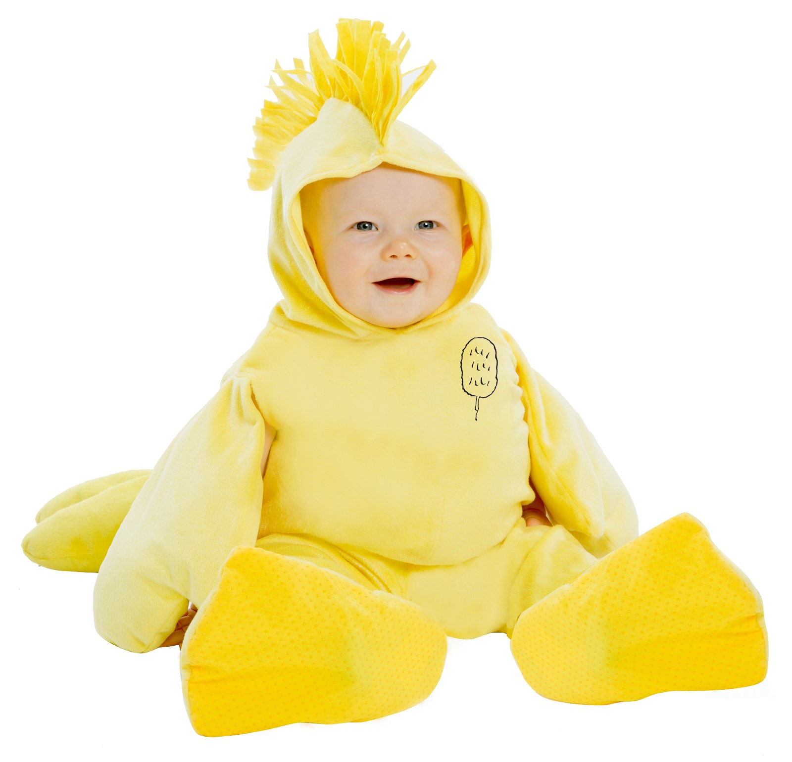 Peanuts: Plush Woodstock Jumpsuit Costume for Toddlers