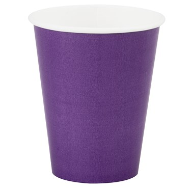 Perfect Purple (Purple) 9 oz. Paper Cups (8 count)