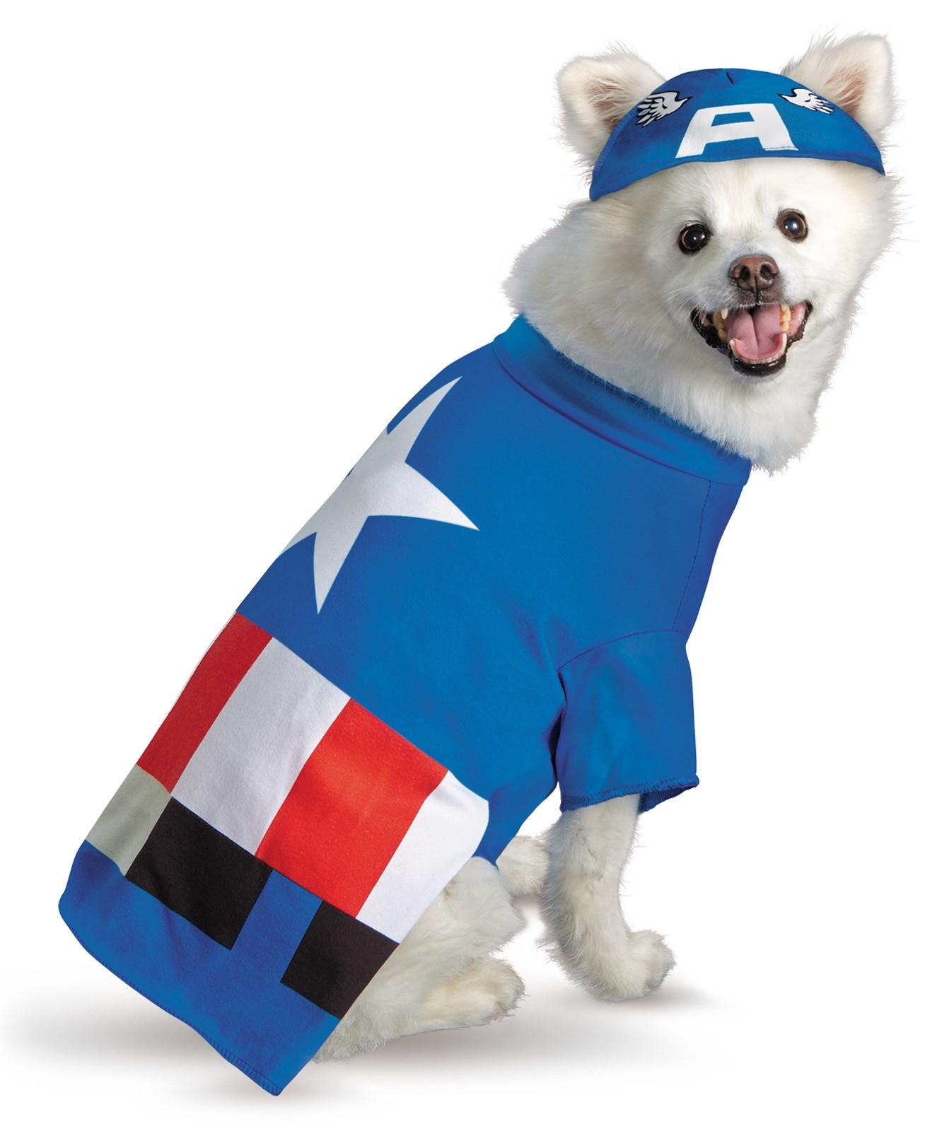 Pet Captain America Costume | BuyCostumes.com