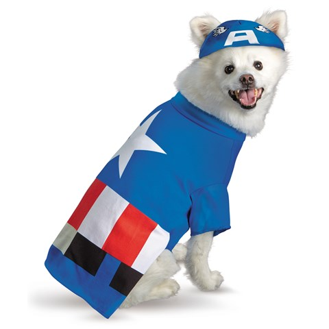 Pet Captain America Costume