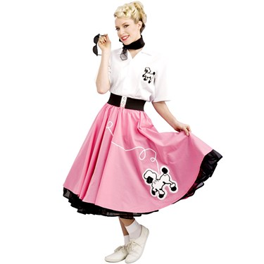 Pink 50s Poodle Grand Heritage Adult Costume