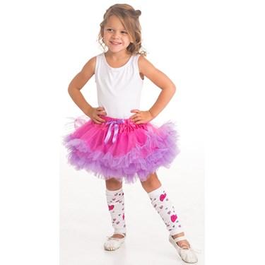 Pink & Purple Heart Leg Warmers For Girls