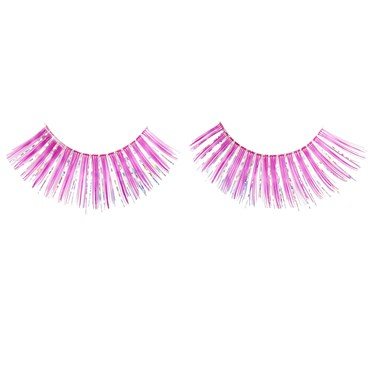 Pink and Silver Eyelashes