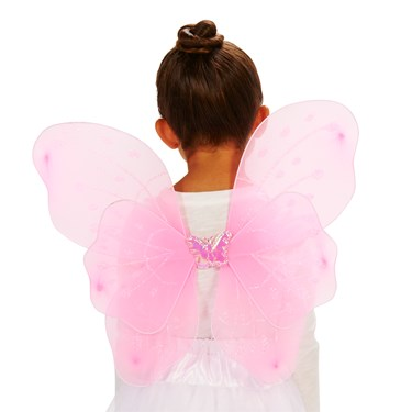 Pink Butterfly Fairy Child Wings