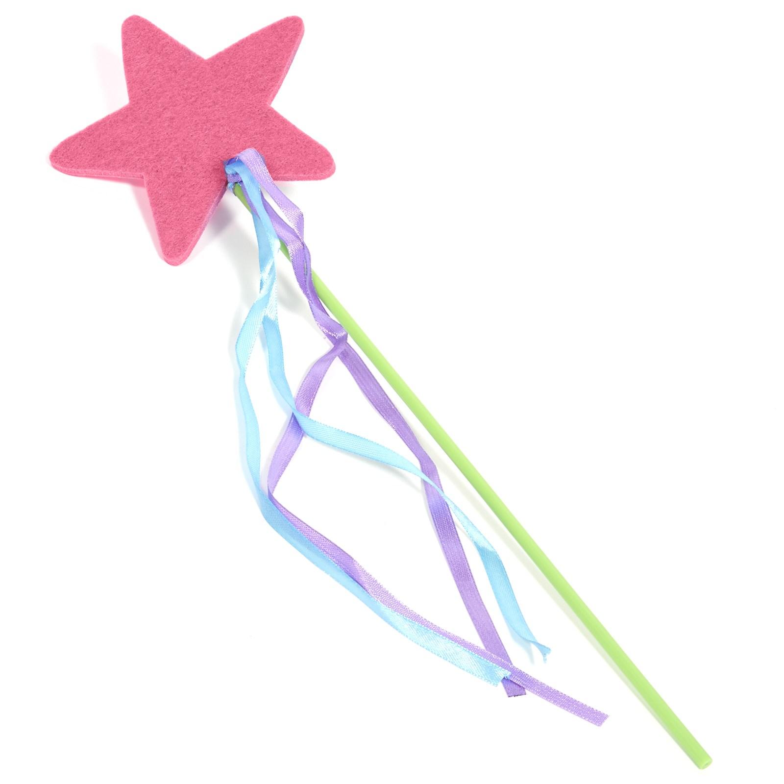 Pink Felt Star Wand