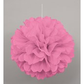 Pink Hanging Puff Ball