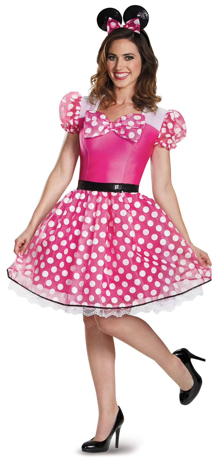 Pink Minnie Mouse Glam Costume For Adults