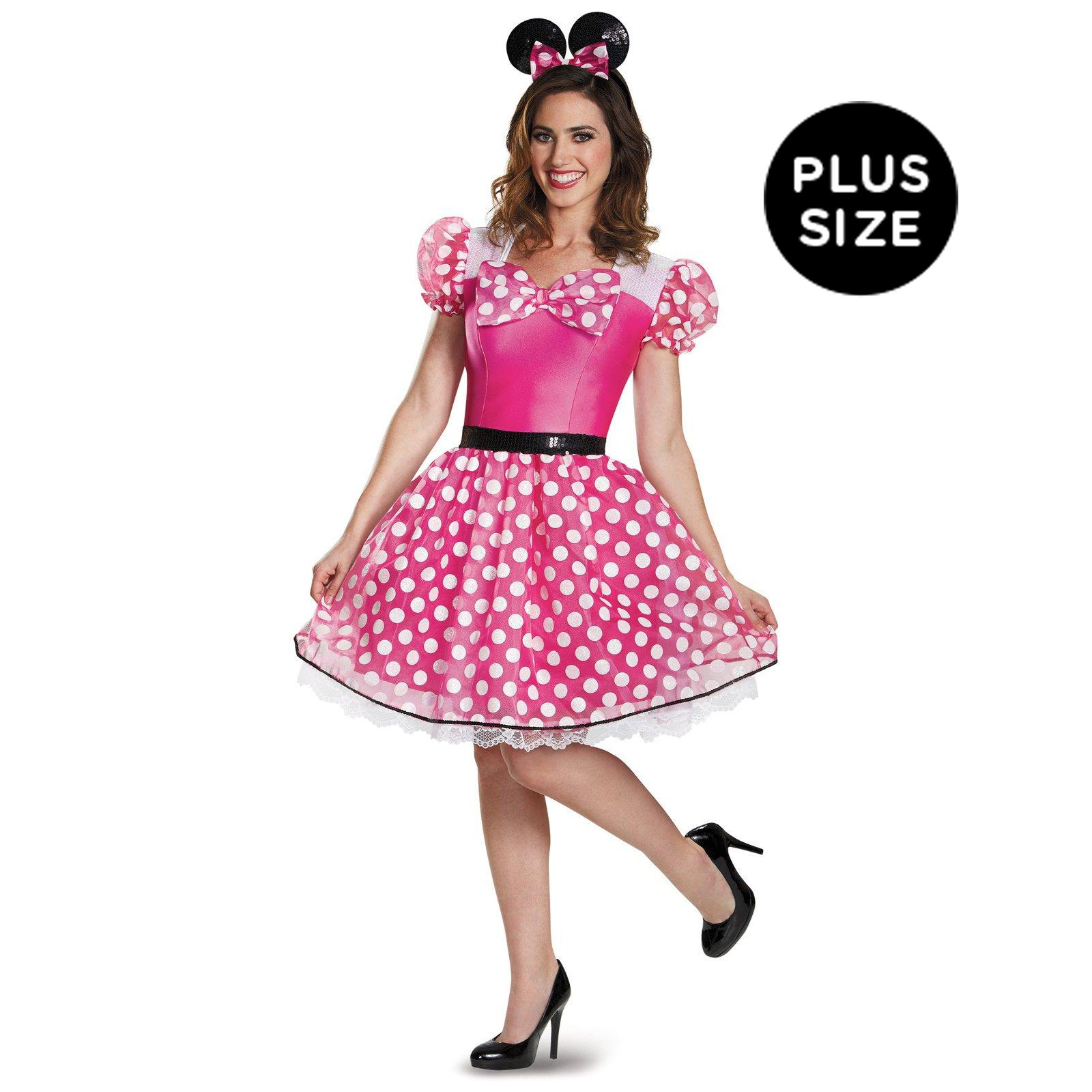 Pink Minnie Mouse Glam Plus Size Costume For Women | BuyCostumes.com