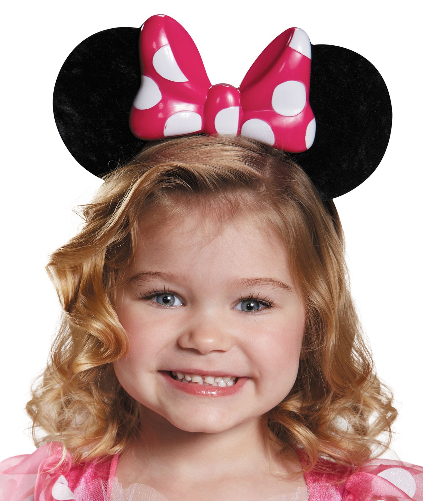 Pink Minnie Mouse Light Up Ears Headband For Kids