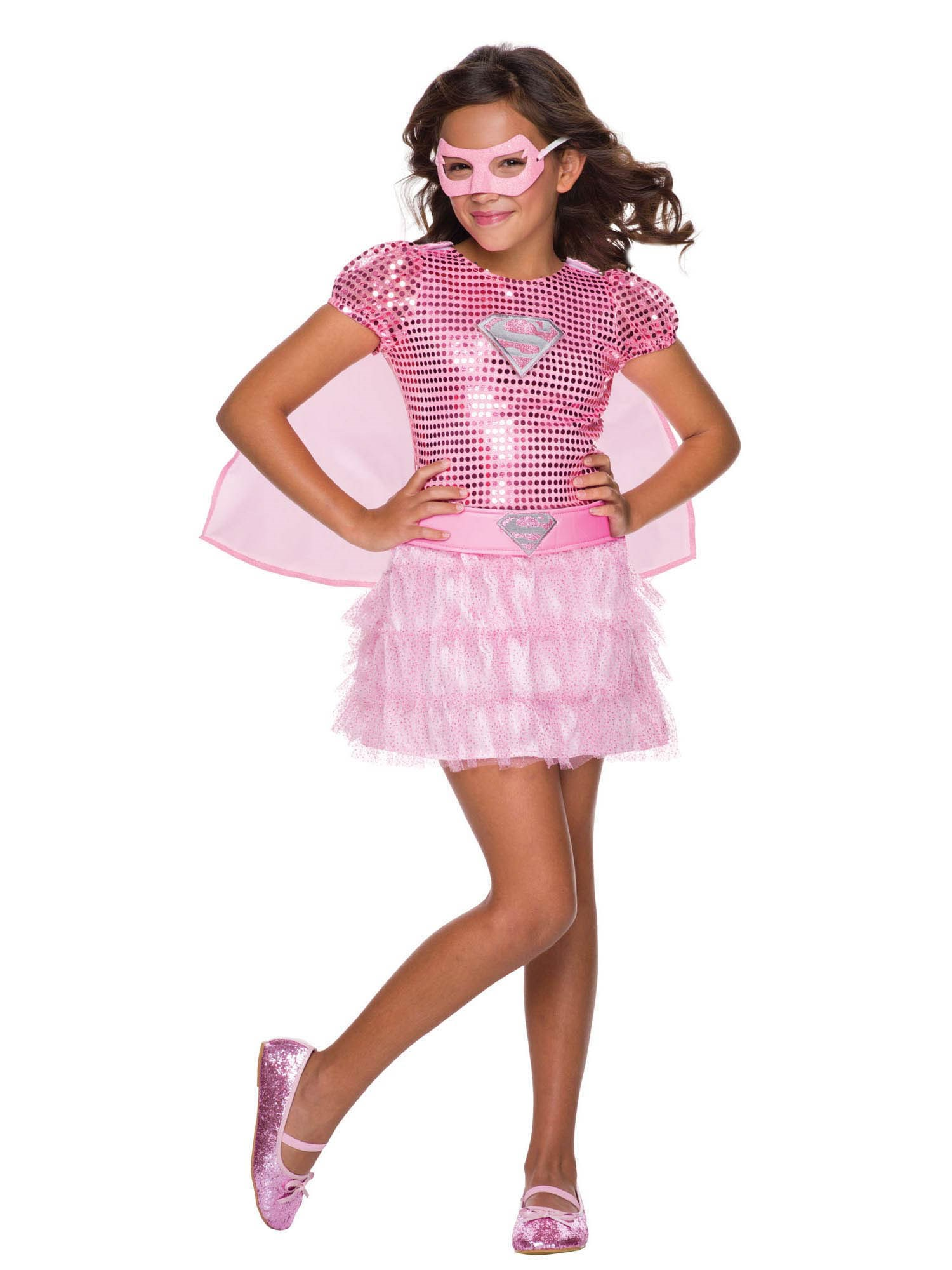 Pink Sequin Toddler Supergirl Costume
