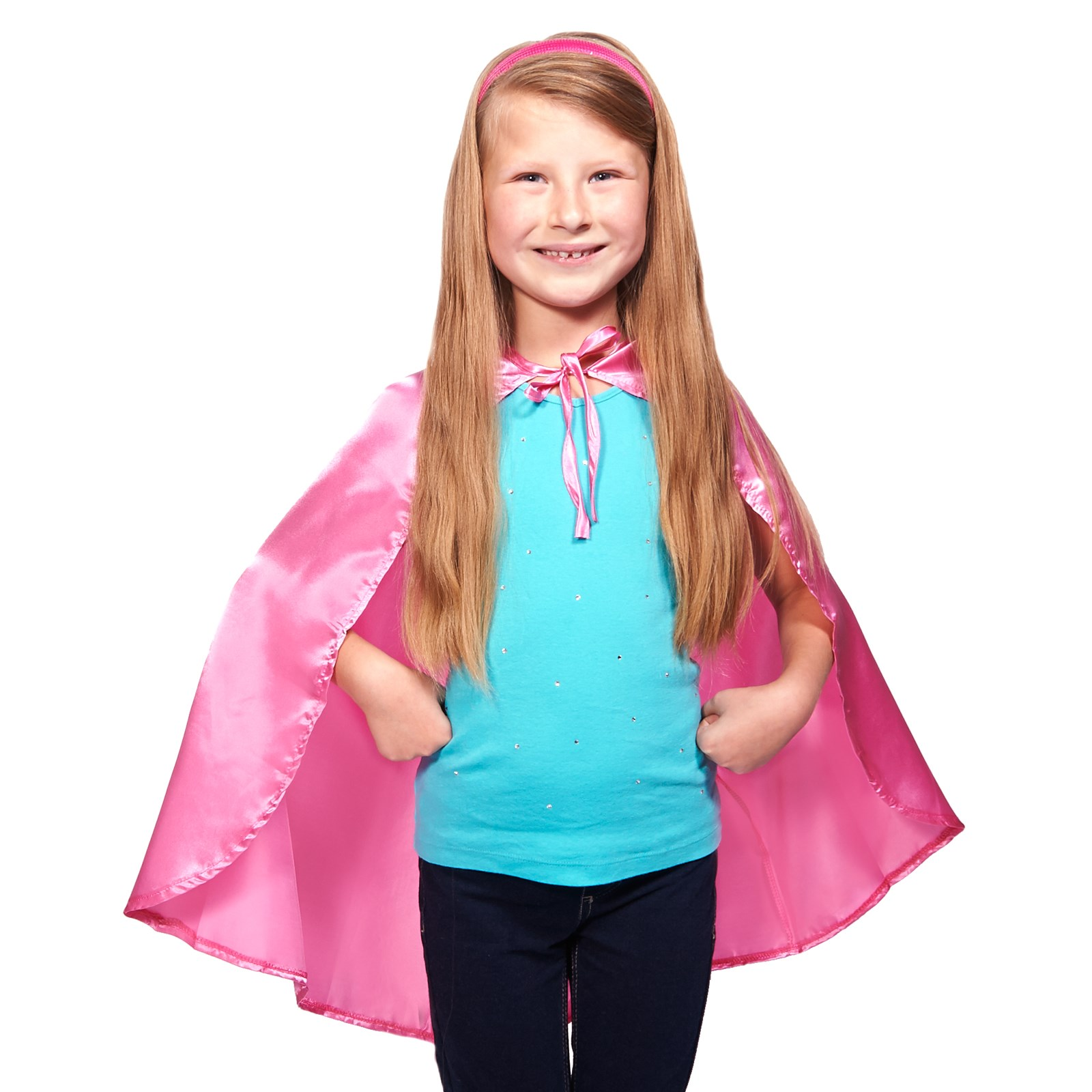 Pink Solid Cape