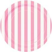 Pink Stripe Dessert Plates