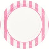 Pink Stripe Dinner Plates