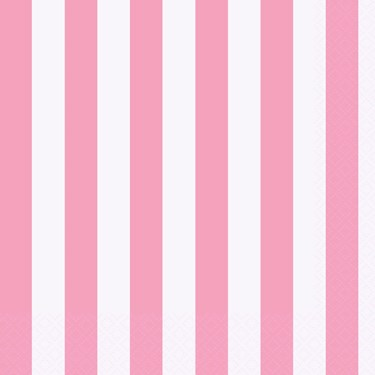 Pink Stripe Lunch Napkins
