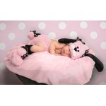 Pinkie Poodle Infant Diaper Cover Set
