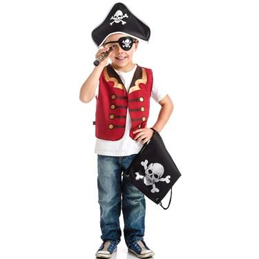 Pirate Drawstring Backpack Dress Up Set For Boys