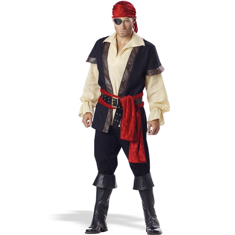 Adult Pirate Elite Collection Adult- Brown: