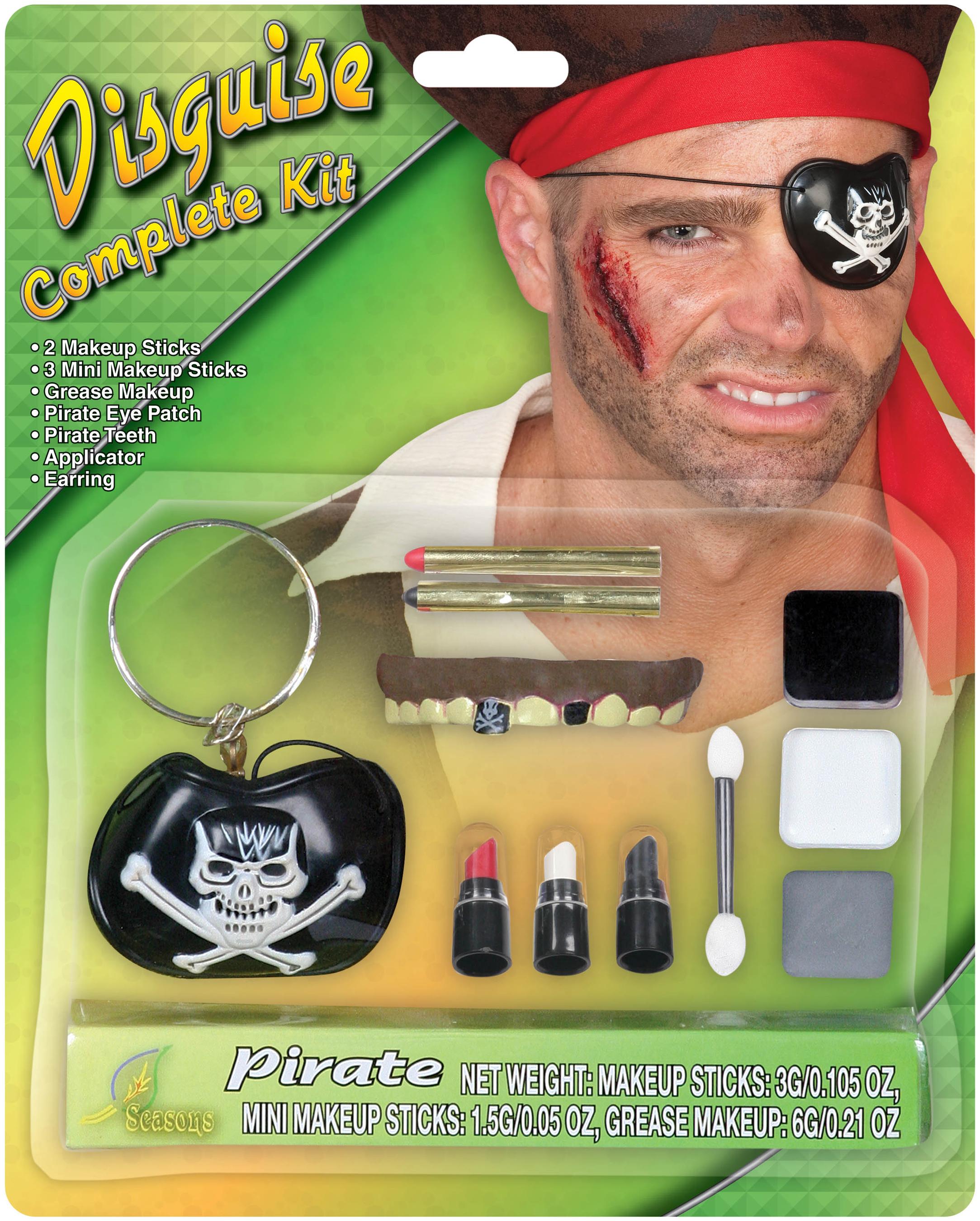 Pirate Makeup Kit Adult