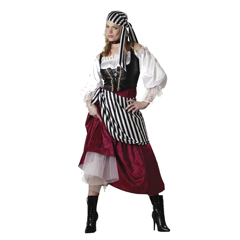 Adult Pirate's Wench Elite Collection Adult Costume- Brown:
