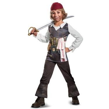 Pirates of the Caribbean 5: Captain Jack Classic Boys Costume