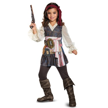 Pirates of the Caribbean 5: Captain Jack Classic Girls Costume
