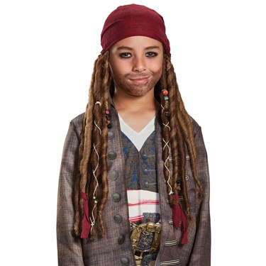 Pirates of the Caribbean 5: Jack Sparrow Child Bandana with Dreads