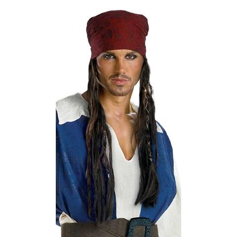Pirates of the Caribbean - Captain Jack Sparrow Headband With Hair