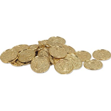 Plastic Gold Coins (100 count)
