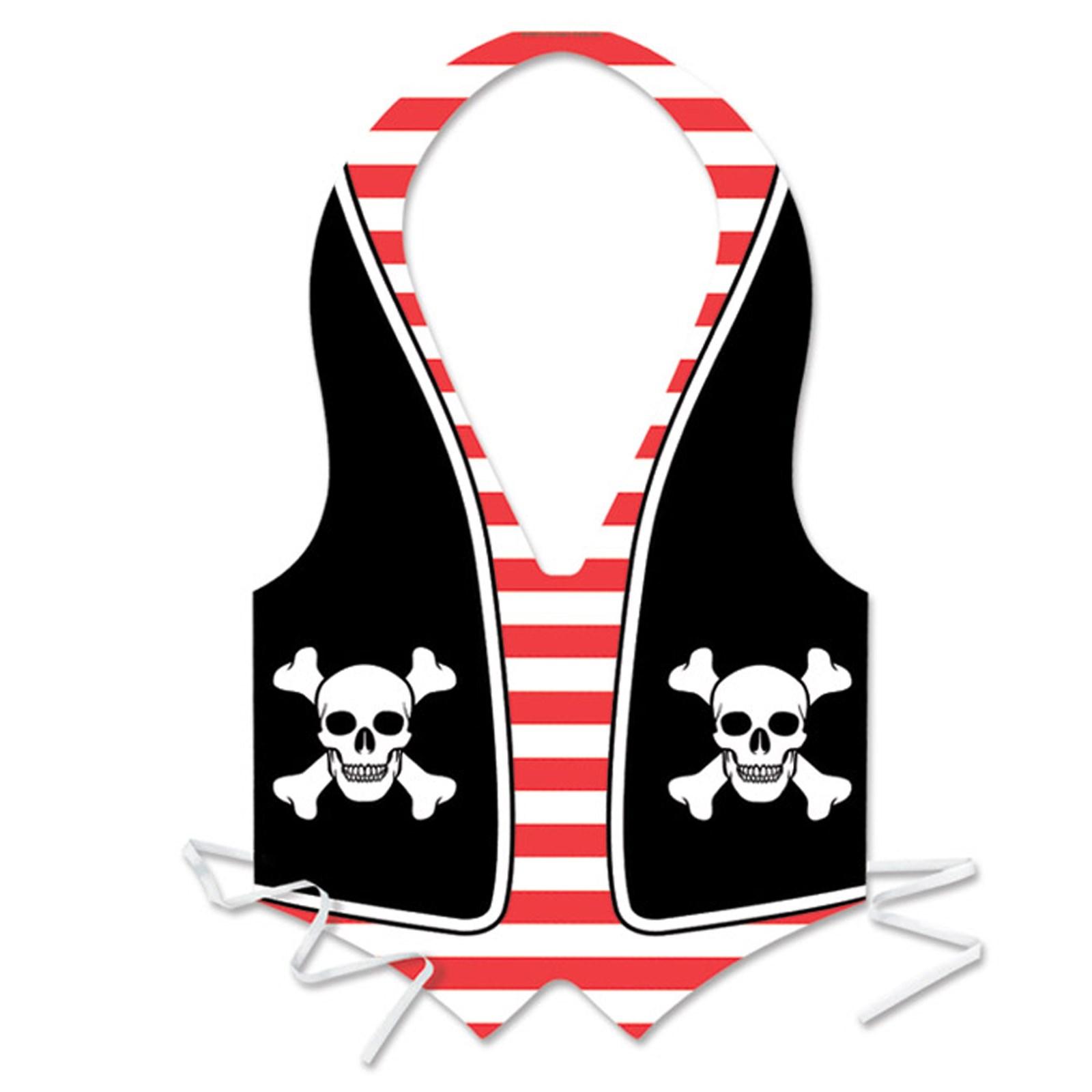 plastic pirate vest buycostumes com
