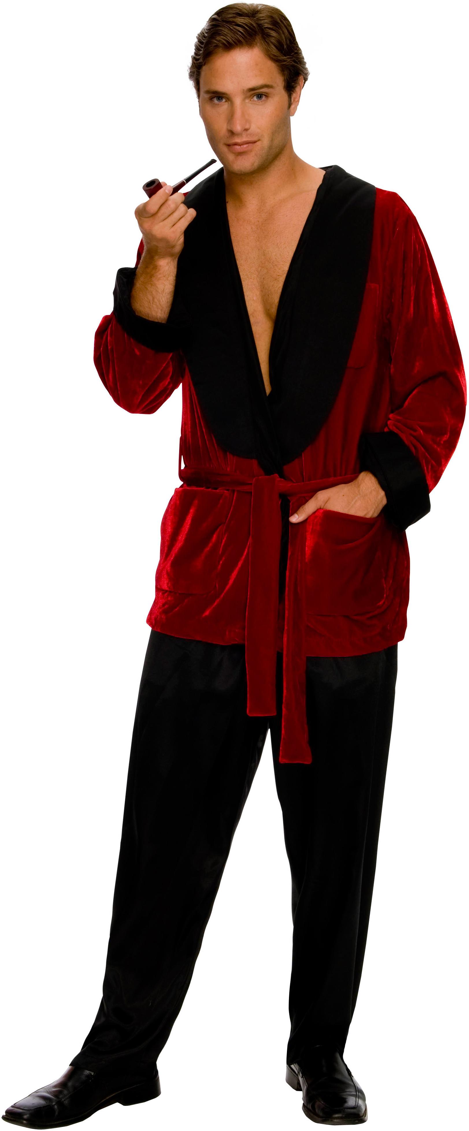 playboy mens smoking jacket adult costume buycostumescom - Halloween Costumes Playboy